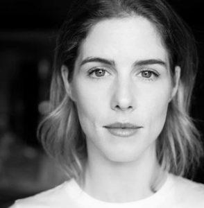 photo of Emily Bett Rickards, black and white
