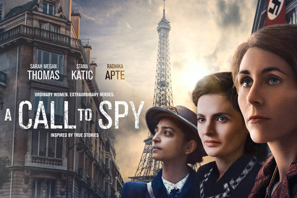 movie poster from A Call To Spy with 3 women in front of Eiffel Tower