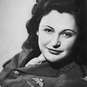 Black and white photos of Nancy Wake taken in 1945