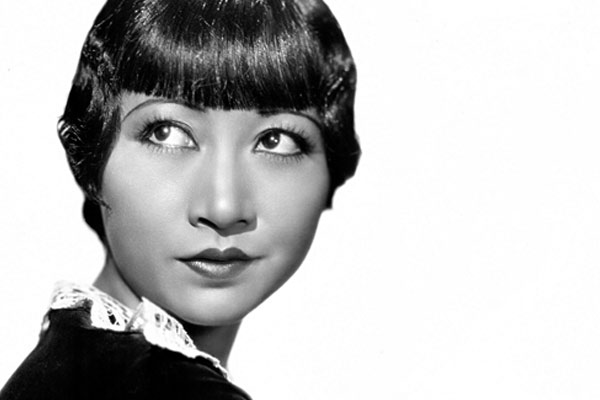 Black and whilte headshot of Anna Marie Wong from 1935