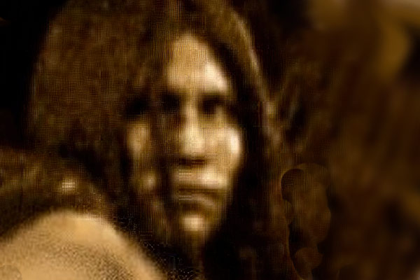 Old blurry photo of Lozen believed to be while captured