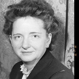 Black and white photo of Elizabeth Bentley circa 1948